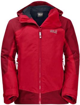 Jack Wolfskin Boys Akka 3in1 Jacket ruby red