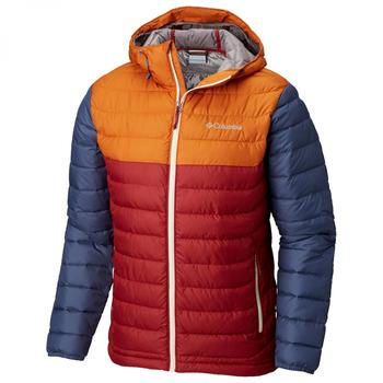 Columbia Powder Lite Hooded Jacket red element/bright copper