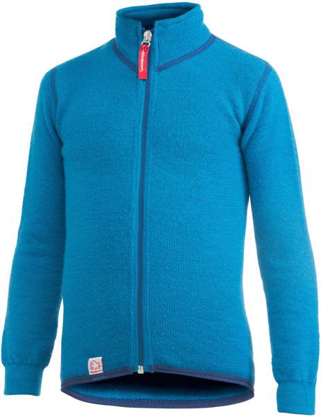 Woolpower Kids Full Zip Jacket 400 dolphin blue