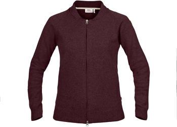 Fjällräven Övik Re-Wool Zip Jacket W (89808) dark garnet