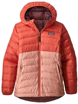 Patagonia Girls' Reversible Down Sweater Hoody spiced coral