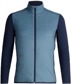 Icebreaker Merinoloft Descender Hybrid Jacket Men granite bluedk night heather