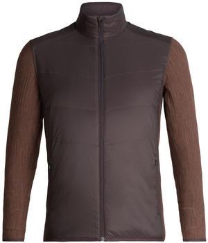 Icebreaker Men's MerinoLOFT Descender Hybrid Jacket walnut/bronze heather (104280-201)