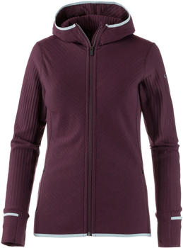 Icebreaker Descender long sleeve Zip Hood Women velvet/dew