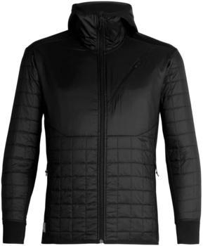 Icebreaker Merinoloft Helix long sleeve Zip Hood Men black/jet heather