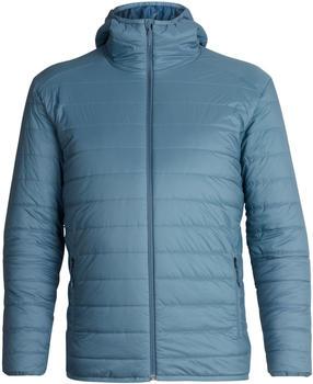 Icebreaker Merinoloft Hyperia Hooded Jacket Men granite blue/prussian blue