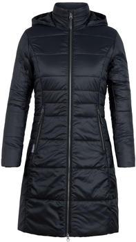 Icebreaker MerinoLOFT Stratus X 3Q Hooded Jacket Women black/jet heather