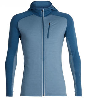 Icebreaker Quantum Long Sleeve Zip Hood Men granite blueprussian blue