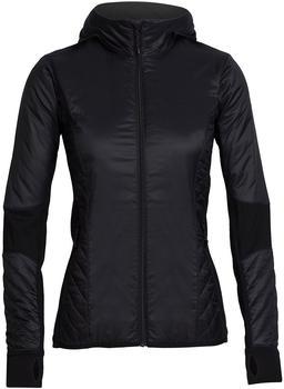 Icebreaker MerinoLOFT Helix Long Sleeve Zip Hood Women black/jet heather