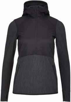 Icebreaker MerinoLOFT Descender Hybrid Long Sleeve Half Zip Hood Women black/jet heather