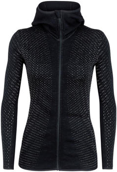 Icebreaker Elemental Long Sleeve Zip Hood Crystal Women