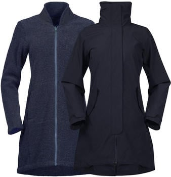 Bergans Oslo 3in1 Women Coat dark navy melange/ dark navy melange