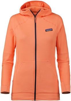Patagonia Women's R1 Fleece Full-Zip Hoody peach sherbet