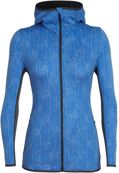 Icebreaker Away Ls Zip Hood Showers Women cove/monsoon