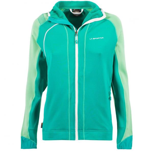 La Sportiva Kix Hoody Women Apparel Hiking emerald spruce