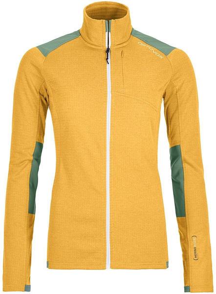 Ortovox Fleece Light Grid Jacket Women yellowstone