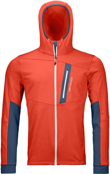 Ortovox Fleece Light Tec Hoody M crazy orange