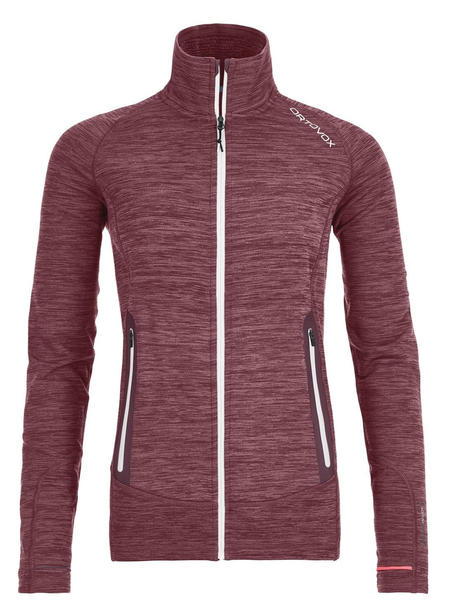 Ortovox Fleece Light Melange Jacket Women (87048) dark wine blend