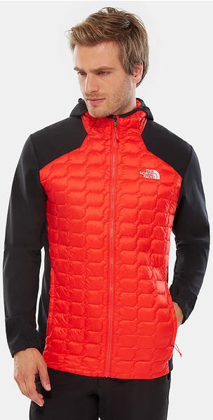 The North Face Men's Thermoball Hybrid Hoodie Jacket fiery red/tnf black