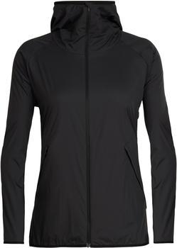 Icebreaker Women's Coriolis II Hooded Windbreaker Jacket black/monsoon