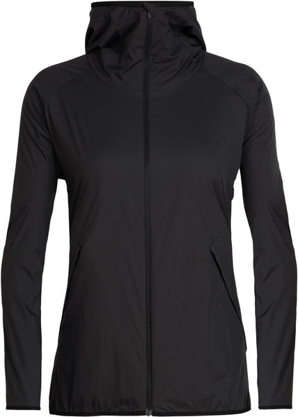 Icebreaker Women's Coriolis II Hooded Windbreaker Jacket black/monsoon