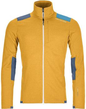 Ortovox Fleece Light Grid Jacket Men yellowstone