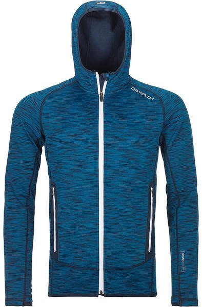 Ortovox Fleece Space Dyed Hoody W blue sea blend
