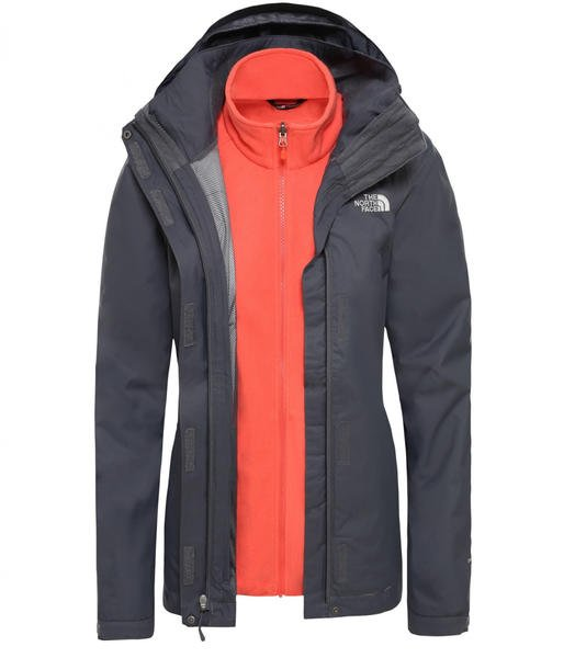 The North Face Damen Evolve II Triclimate vanadis grey/radiant orange