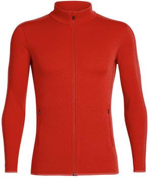 Icebreaker Men's Elemental Long Sleeve Zip chili red