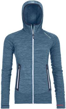 Ortovox Fleece Light Melange Hoody Women night blue blend