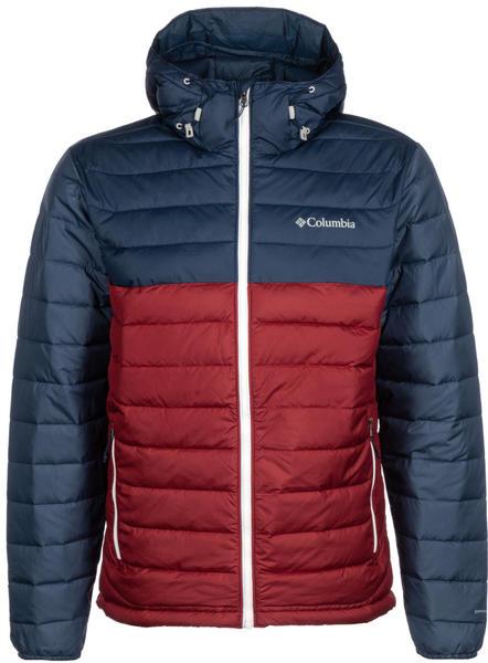 Columbia Powder Lite Hooded Jacket red jasper/collegiate navy