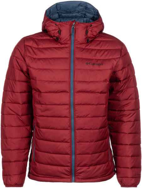 Columbia Powder Lite Hooded Jacket red jasper