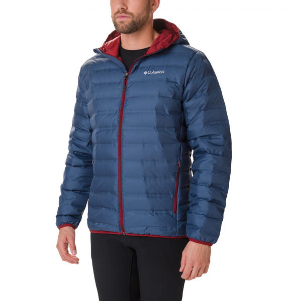 Columbia Men's Lake 22 Down Hooded dark mountain