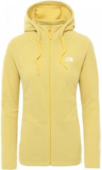 The North Face Women's Mezzaluna Fleece bamboo yellow stripe