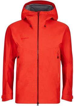 Mammut Crater Hardshell Hooded Jacket for Men spicy