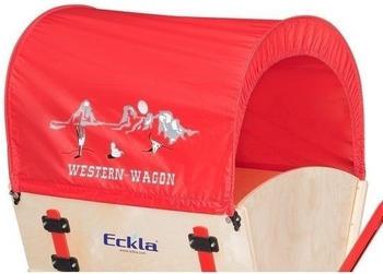 Eckla Planendach rot mit Western-Druck (77824)