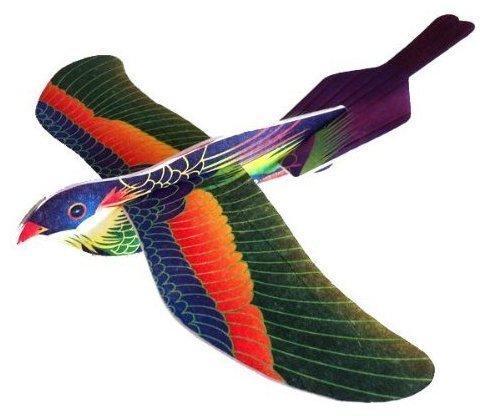 6x Vögel 20cm Flieger Spielzeug Geburtstag Mitgebsel