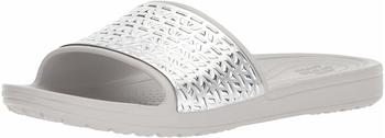 Crocs Sloane Graphic Etched Slide pearl white/silver