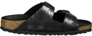 Birkenstock Arizona Suede Leather vintage metallic black
