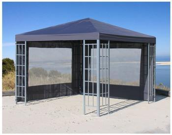 Grasekamp Seitenteile für Pavillon Aluminium-Optik anthrazit