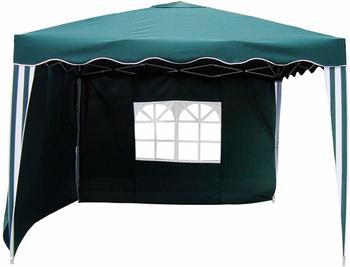 Linder Exclusiv Alu Garten Faltpavillon mit Seitenteilen 3 x 3 m grün/weiß