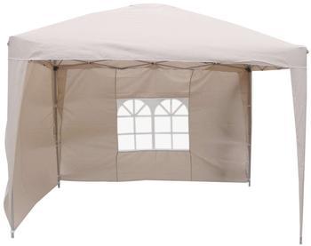 Linder Exclusiv Alu Faltpavillon 3 x 3 m beige/weiß