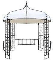 Outflexx Pavillon, anthrazit/creme, Stahl/Textil, ca.300x300x300cm