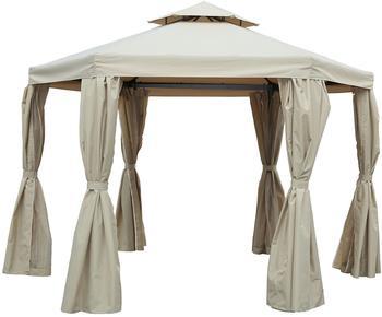 Outflexx 6-Eck-Pavillon beige (175 x 175 cm)