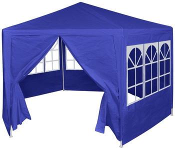 vidaXL Festzelt mit 6 Seitenwänden 2x2m Blau