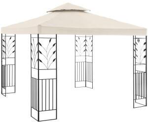 Uniprodo Gartenpavillon 300 x 300 cm creme (10250036)