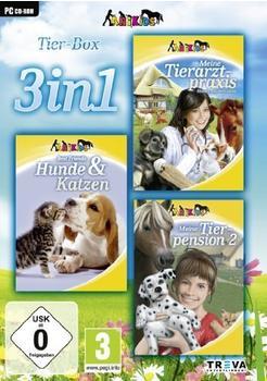 dtp Entertainment Tier Box 3 in 1: Meine Tierarztpraxis: Einsatz auf dem Land, Best Friends: Hunde & Katzen, Meine Tierpension 2 (PC)