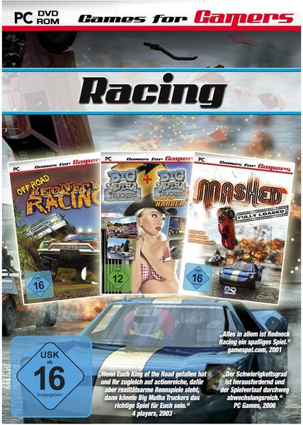 Racing 3 Game Pack: Mashed + Redneck Racing + Big Mutha Truckers (PC)