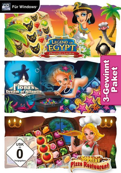 3-Gewinnt Paket: Legend of Egypt: Pharaoh's Garden + Fiona's Dream of Atlantis + Sophia's Pizza Restaurant (PC)