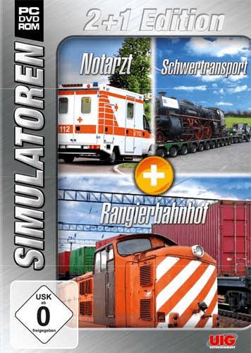 UIG Simulatoren 2+1 Edition: Notarzt + Schwertransport + Rangier (PC)